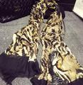 Женщины 2016 новый зимний женский шарф леопарда хлопок платок длинный отрезок