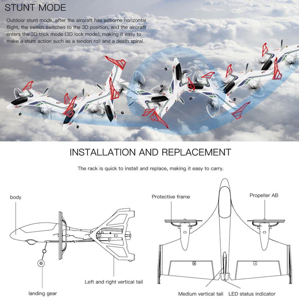 Image 4 - RC 3D Aerobatic Airplane Remote Control Vertical Takeoff Landing Fixed Wing Plane Outdoor Park Aircraft Toys Drone-in RC Airplanes from Toys & Hobbies