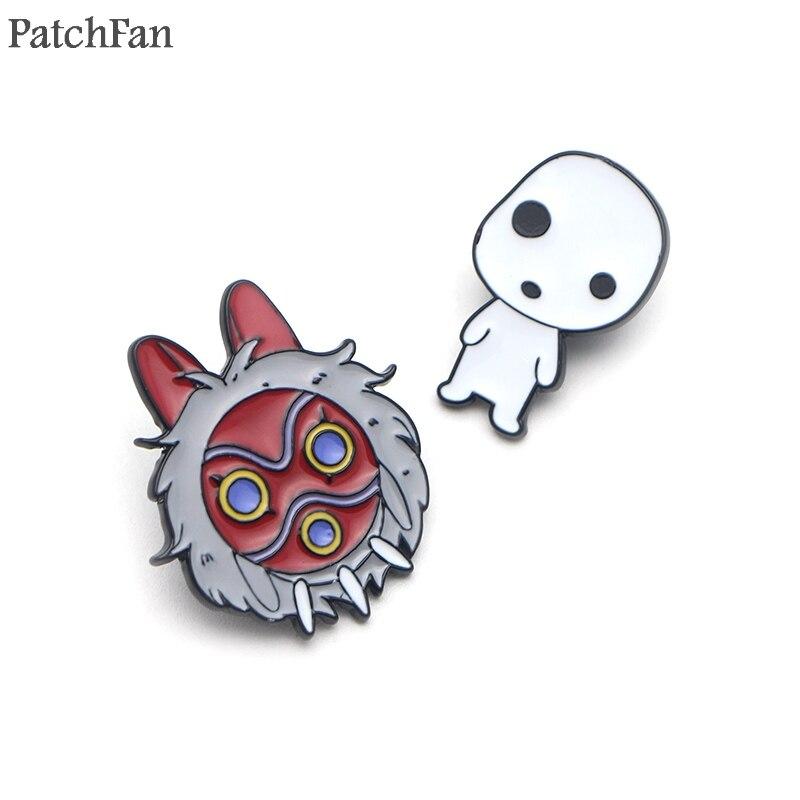 Patchfan Princess Mononoke Applique diy accessorries iron on patches para clothing backpack hat kids decorations A1430