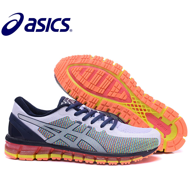 2018 Original New Arrival Asics Gel-Quantum 360 Man's Shoes Breathable Stable Running Shoes Outdoor Tennis Shoes Hongniu asics tiger gel lyte iii lc