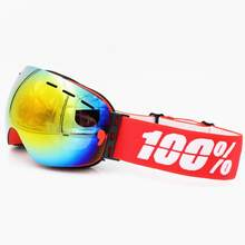 100% brand speedtrap S2 Ski Goggles Men Women Lens UV400 Anti-fog Skiing Eyewear Snow Glasses Adult Skiing Snowboard Goggles(China)