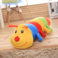 Nooer Colorful Giant Kawaii Cartoon Plush Stuffed Worm Caterpillar Toy Long Sleeping Pillow Cushions Gift For