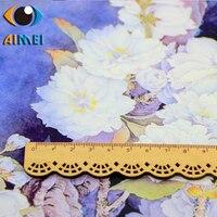 Cherry Ancient Rhyme Flowers Printing And Dyeing Imitation Clouds Yarn Fabric Hand Diy Bag Dress Cheongsam