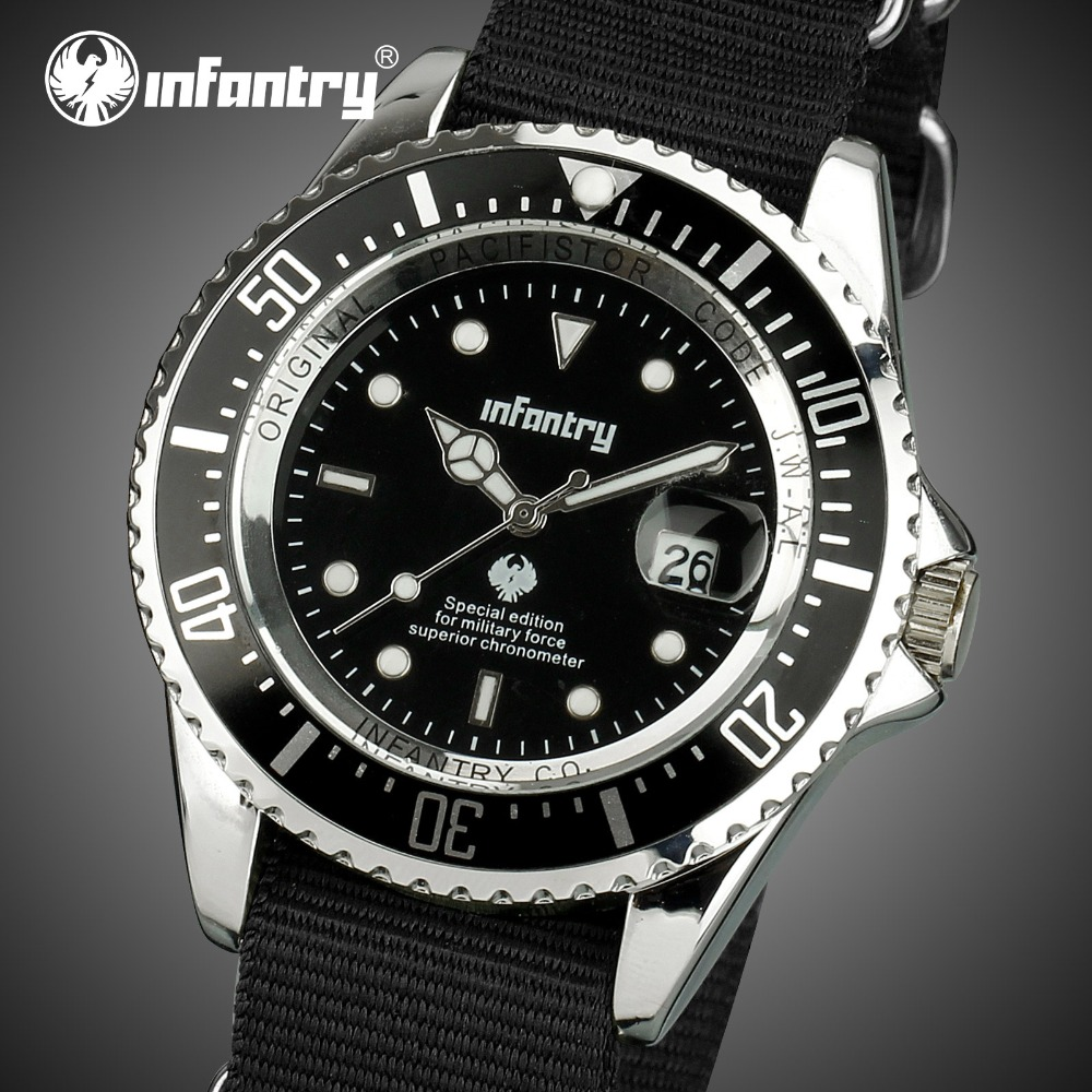 INFANTRY Mens Watches Top Brand Luxury Military Watch Men Lu