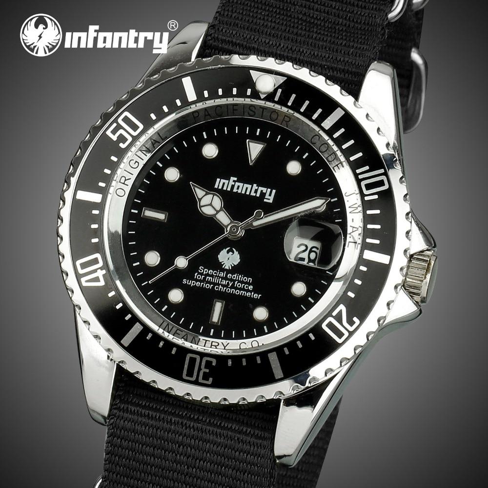 Relojes militares de lujo de la marca superior de los hombres de la marca de los relojes de la correa de la OTAN tácticos del ejército luminoso para hombres reloj Masculino