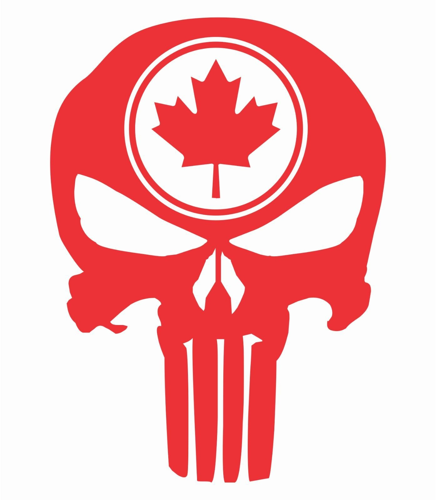 Car Styling For Tall Punisher Skull Maple Leaf Vinyl Decal