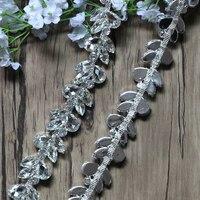 Free Shipping 1yard Crystal Rhinestone Trimming For Wedding Rhinestone Bridal Applique Wedding Applique Rhinestone Chain TONG026
