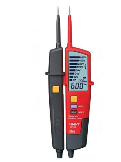 UNI-T UT18D Voltage Meters LED/LCD Display Voltage&Continuity Testers Auto Range Volt Detectors Pen цена