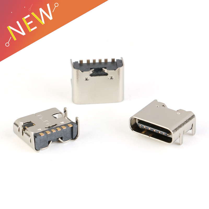 10pcs/lot SMT Socket Connector Micro USB Type C 3.1 Female Placement SMD DIP For PCB design DIY high current charging 6 Pin10pcs/lot SMT Socket Connector Micro USB Type C 3.1 Female Placement SMD DIP For PCB design DIY high current charging 6 Pin