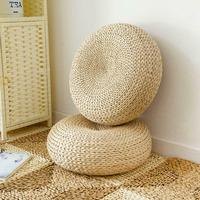 Tatami Cushion Futon Meditation Thickening Yoga Circle Corn Husk Straw Braid Mat Japanese Style Cushion with Silk Wadding