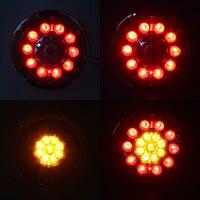 MZORANGE Car Round Steel Ring 12 24V19 LED Car Side LED Lamp Light Brake Stop Turn Tail Light Stainles For Truck Trailer Lorrys
