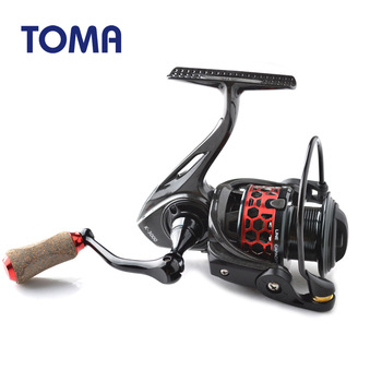 TOMA High Quality Ultralight Carbon Spinning Fishing Reel 9+1BB K1000 K2000 K3000 K4000 Carp Fishing Spinning Reels Freshwater