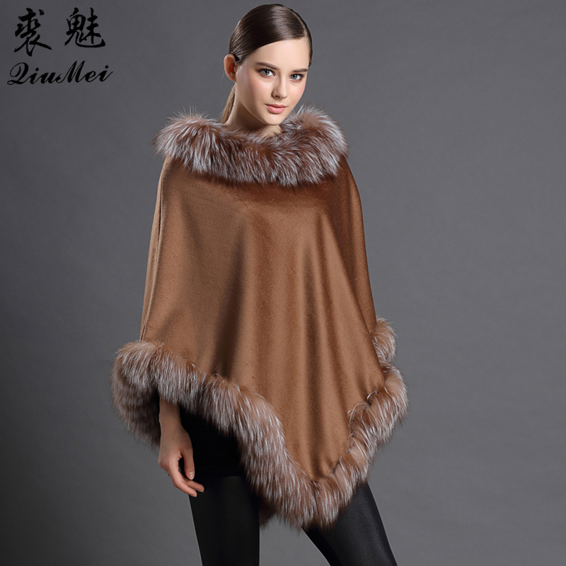 Wool Shawl New Lurxury Brand Women's Shawl Winter Brown Blanket Women's Pashmina Lady Cape Cashmere Scarf Ponchos Cashmere