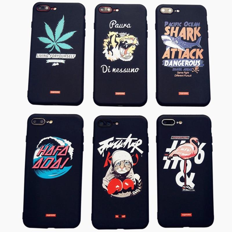 Sup Brand Silicone Case Soft Cover for capinha iPhone X 10 7 8 Plus 6s Flamingo leaf funda for iPhone 7 plus Coque capa para
