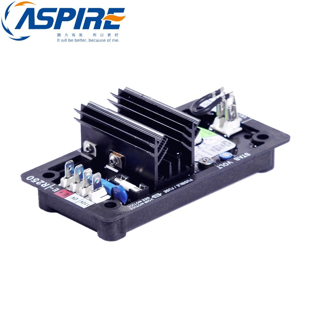free shipping Alternator Brushless AVR R250 AVR Generator Voltage Regulator 50 60hz automatic voltage regulator for kutai brushless generator avr ea16 free shipping