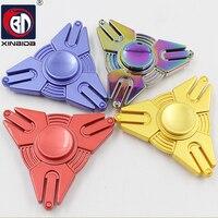 BD Triangle Hands Spinner Fidget Spinner Stress Cube Torqbar Brass Hand Spinners Focus KeepToy And