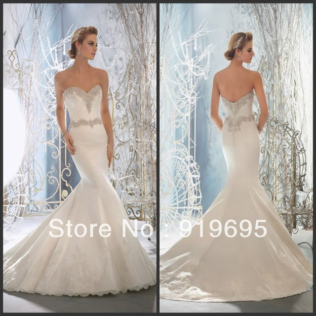 Free shipping hot sale off shoulder crystal beaded low for Wedding dresses made in italy