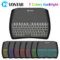 VONTAR Backlight D8 Pro Plus i8 Engels Russische 2.4 GHz Wireless Mini Keyboard Air Mouse Touchpad Controller voor Android TV DOOS