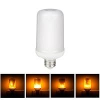 E27 E26 3528 LED Flame Effect Fire Light Bulb 7W Creative Led Light Bulb Flickering Emulation