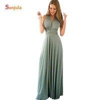 Vestido Longo Кабриолет для невесты платье с перекрещивающимися бретелями длинное трикотажное платье для свадебной вечеринки простое vestito damigella