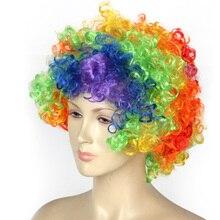 Rainbow wig explosion head party supplies clown Fantasy Comic Movie Carnival Party Purim Halloween