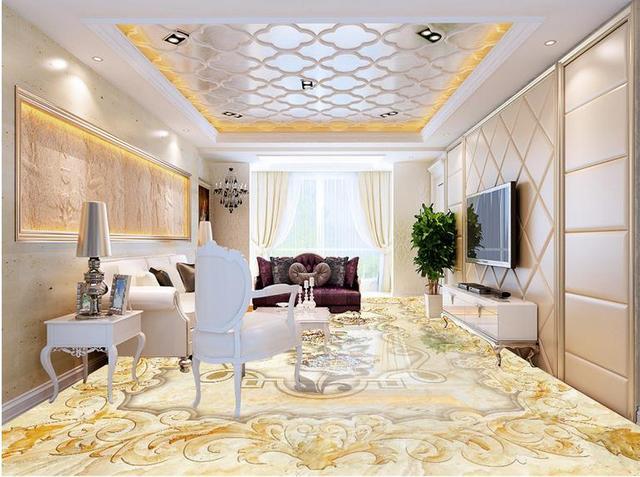 Vinyl In Badkamer : Vinyl vloeren custom golden waterdicht behang voor badkamer golden