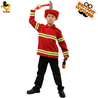 DESPLAY New Design Firefighter Handsome Boys Child Fireman Costume Boys Cool Fancy Suit Cosplay for Carnival Party Costumes