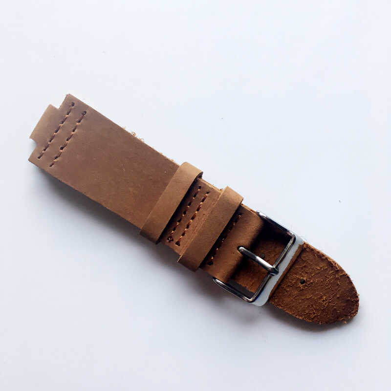 Suede Design Special&Classical Genuine Cow Leather Watchband 23mm Watch Accessories Watch Straps For Wood Watches Drop Shipping