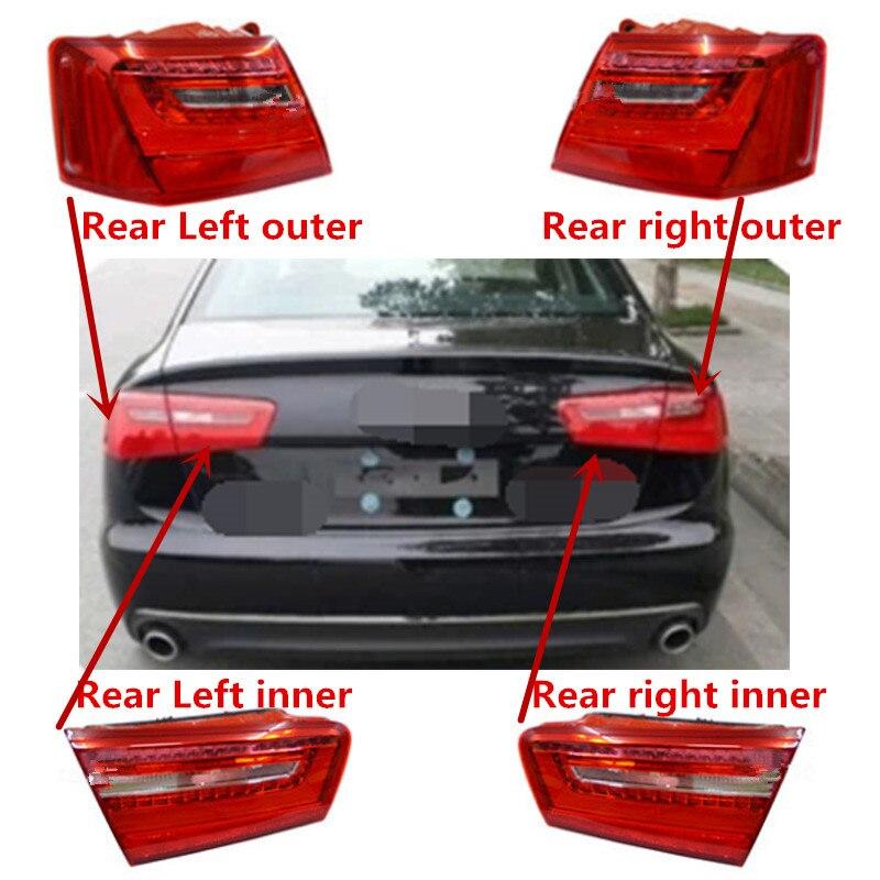 1PCS LH RH Rear Outside Light Tail Lamp Assembly For Audi A6 C7 2012 2015 4GD