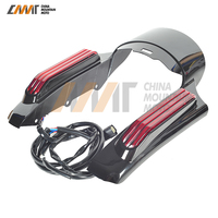 Motorcycle Accessories LED Light Rear Fender Fascia Set Case for Harley Touring Road King FLHR FLHX 2014 2015 2016 2017 2018