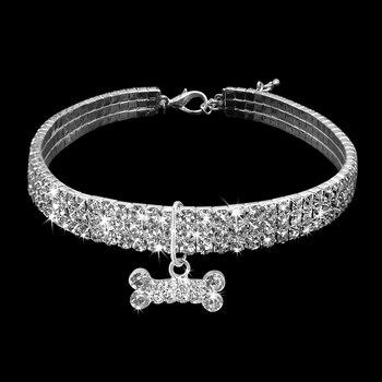Comfortable Fashion Bling Dog Cat Jewelry Rhinestone Collar Pet  4