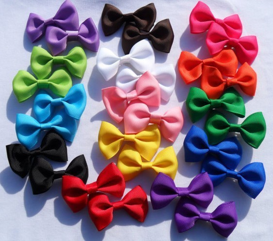 2″ Little baby girl hair grosgrain ribbon Bow Baby Boutique  hairpins girl hair accessories Kids Ribbon bows Hair clips 12Pc
