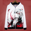 Tokyo Ghoul Hoodies Jackets Coats Anime Ken Kaneki Cosplay Costumes Casual Warm Zipper Hooded Sweatshirts