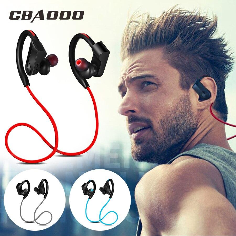 CBAOOO Sport Bluetooth Cuffia Auricolare Senza Fili Auricolare Bluetooth Impermeabile di riduzione del rumore con Microfono per android ios