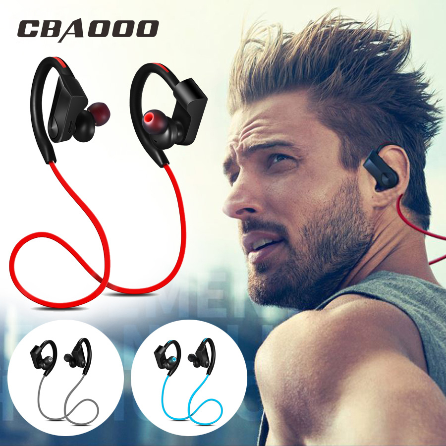 CBAOOO Sport Bluetooth Headphone Wireless Earphone Bluetooth Headset Pengurangan bunyi kalis air dengan Mikrofon untuk IOS android