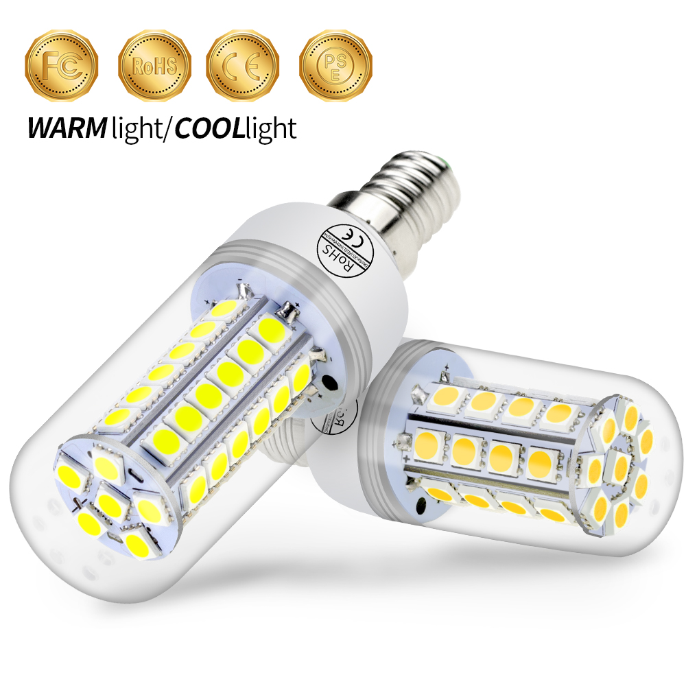 Ampoule Led E27 Light Corn Bulb 5050 Bombillas Led E14 Lamps Led 220V Home Led Light Bulbs Decorative 24 30 36 48leds Bulb 230V