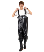Mens Breathable Chest Waders Fishing Pants Wading Boots Waterproof Wader for Fishing Fly neoprene pesca Rubber PVC bota pesca