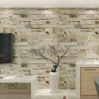 PVC Vinyl Modern Faux Brick Stone 3D Wallpaper Living Room Bedroom Bathroom Background Wall Decoration Murals 0.53m*10m/roll
