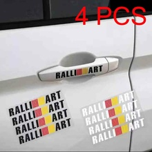 4PCS Car Door Handle Sticker Decoration Reflective Waist Line Stickers