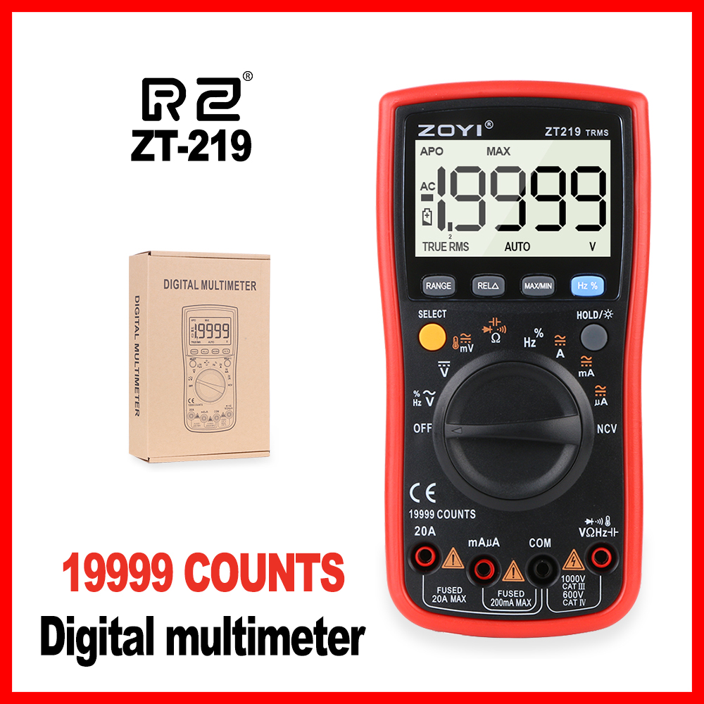 Digital LCD Multimeter ElectricalPocket Precision Professional Smart CE Digital Multimeter Digital Handheld Tester ZT219 digital multimeter tm86