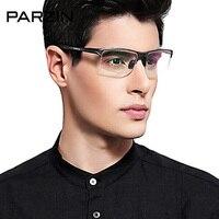 Parzin сплава очки кадр Для мужчин Ultra Light Алюминий магния очки кадр мужской половине кадра оптические очки с случае 8081