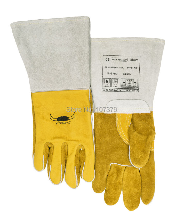 250 graden Celsius 482F hittebestendige lederen werkhandschoenen TIG - Veiligheid en beveiliging