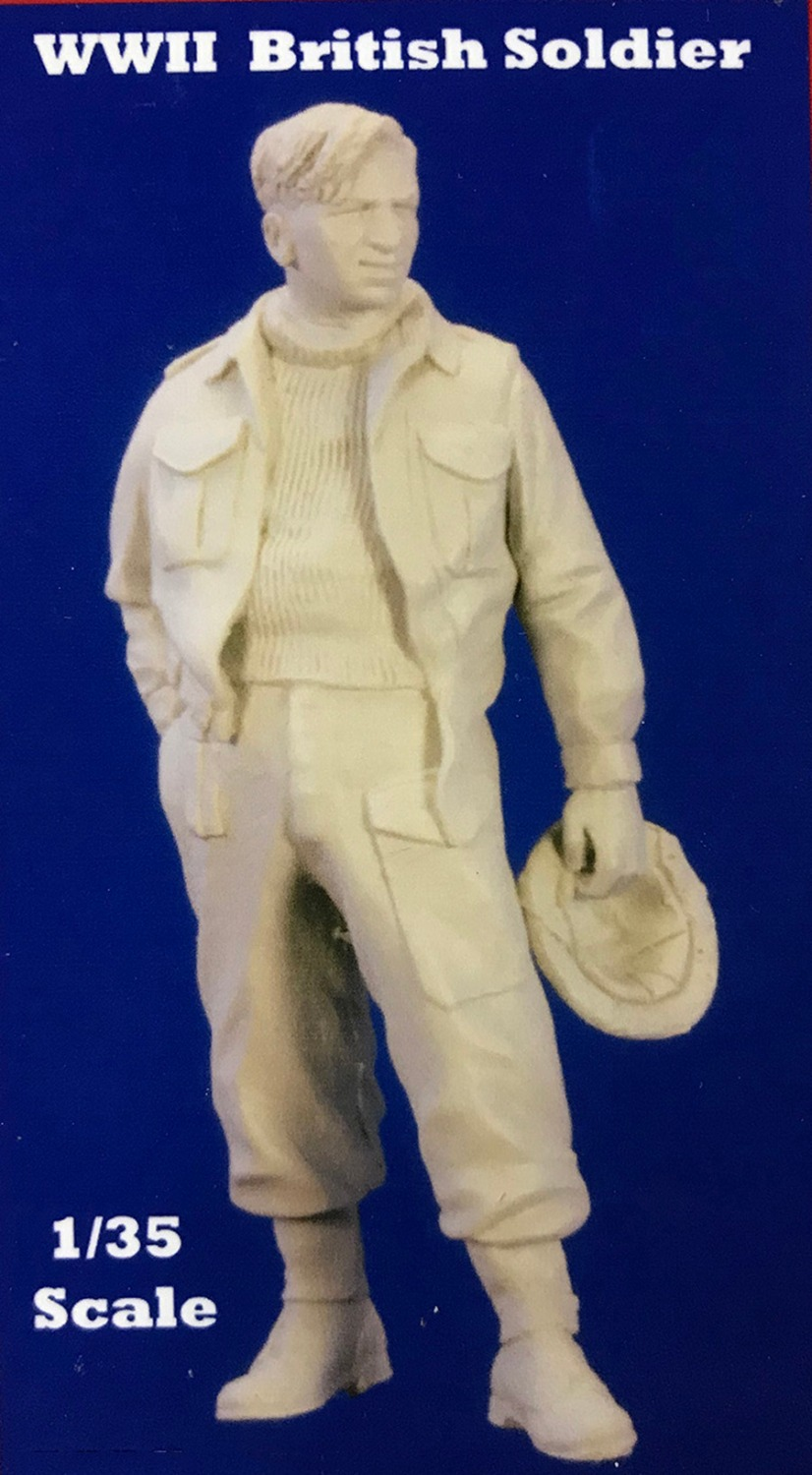 Assembly Unpainted Scale 1/35 british soldier standing WWII Historical toy Resin Model Miniature Kit