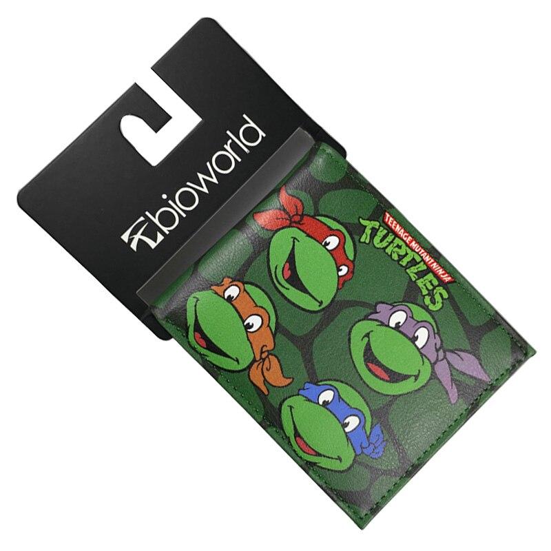 цена на Comics DC Marvel Purse Teenage Mutant Ninja Turtles Leisure Cartoon Animation Wallet PU Leather 4.5inch Men Wallets carteira