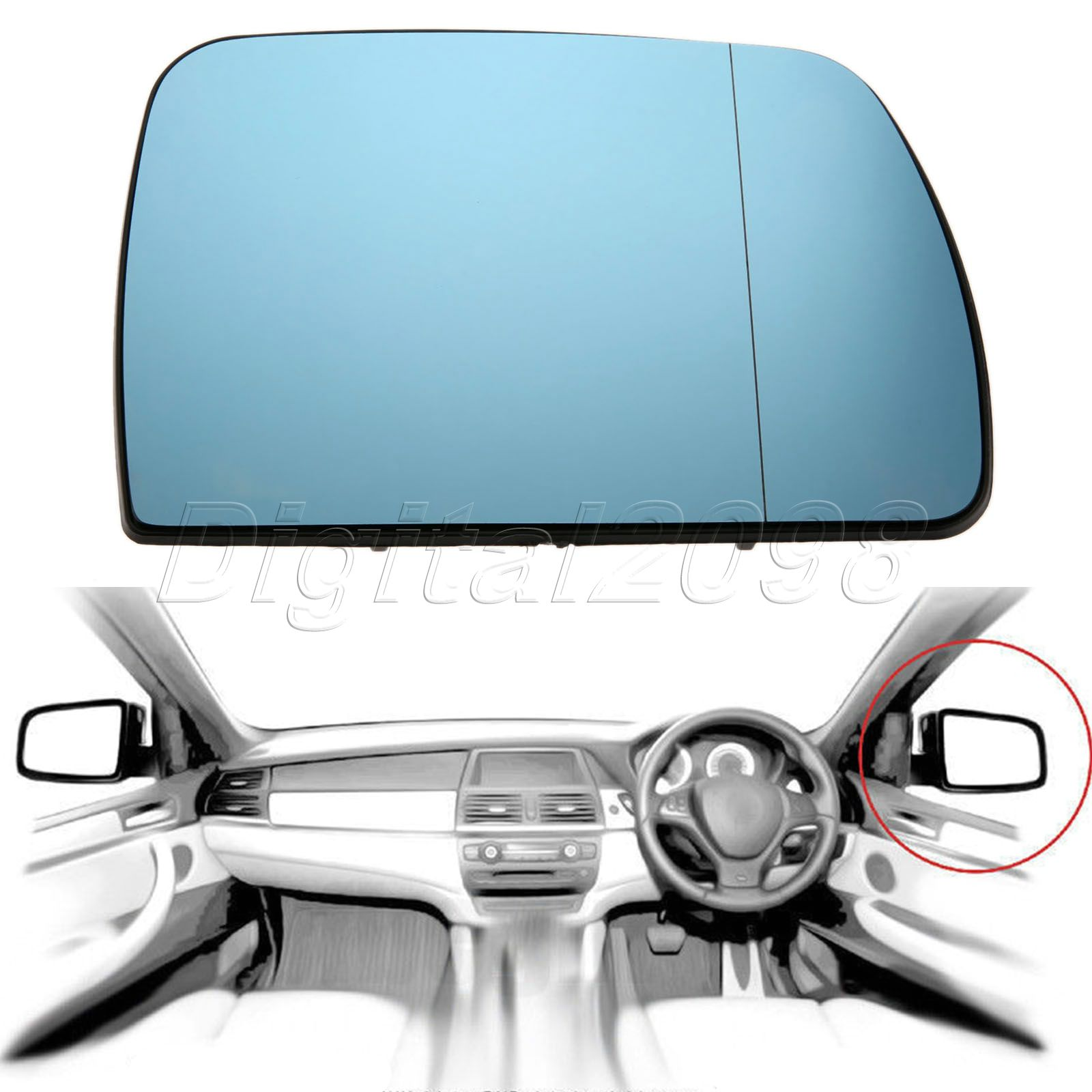 1pc blue door wing mirror glass heated right side for bmw x5 e53 1pc blue door wing mirror glass heated right side for bmw x5 e53 1999 2006 2005 car rearview heating tinted mirror car styling in mirror covers from planetlyrics Image collections