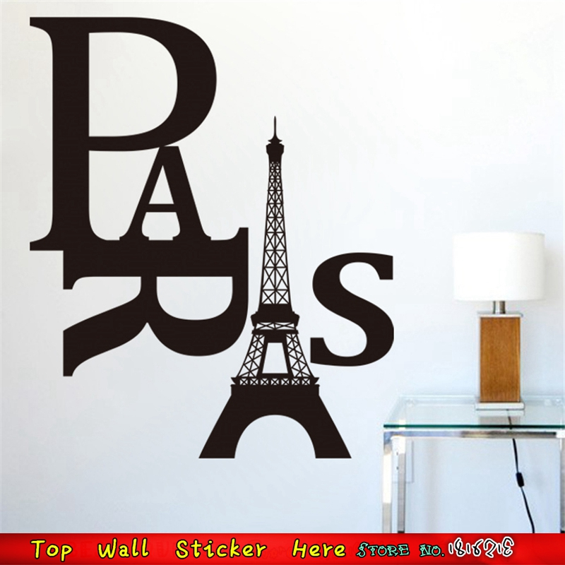Paris Eiffel Tower Wall Stickers France Femme Room Decorations Diy Home Vinyl Decals Wallpaper Craft Poster
