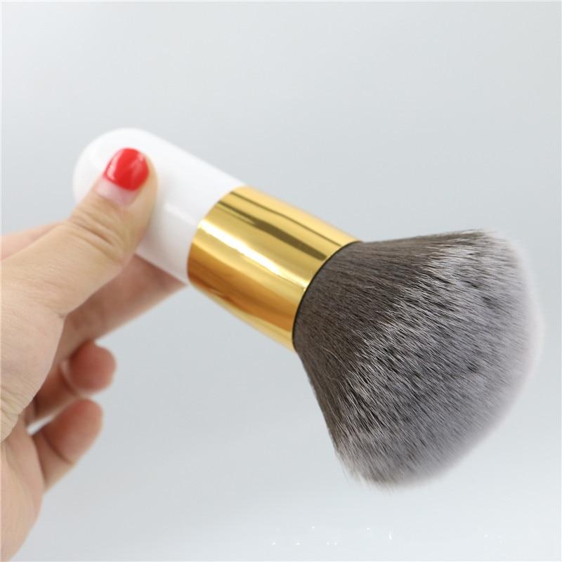 Big Size Foundation Brush Cosmetic Blush Brush For Makeup Soft Facial Finishing Powder Brushes Wood Black Handle Brushes