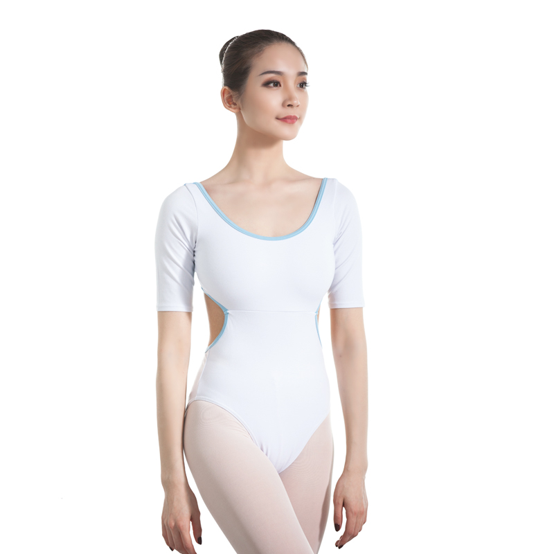 Blue/Red/White For Leotard Ballerina Gymnastics Leotard For Women Ballet Leotards For Adult Bump Joining Together Dance Bodysuit