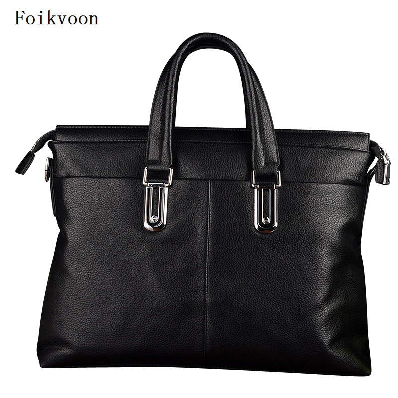 Foikvoon Men Handbags PU Leather Popular Man Business Bags Solid Color Fashion Male Handbag Bags High QualityFoikvoon Men Handbags PU Leather Popular Man Business Bags Solid Color Fashion Male Handbag Bags High Quality
