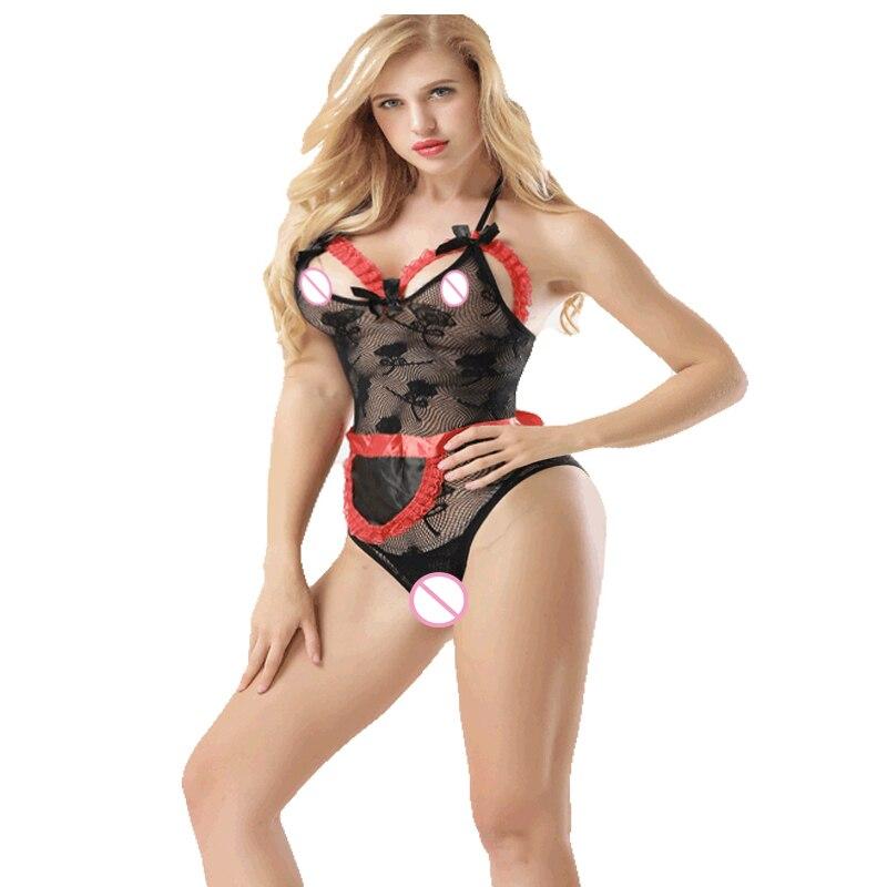 Buy Women Sexy Lingerie Hot Erotic Underwear Babydoll Fishnet Sleepwear Erotica Mujer Sexy Costumes Body Sexi Lenceria Porno QQ301